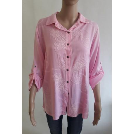 Růžová košile